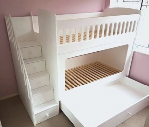 Mẫu giường tầng gỗ MDF - VGT 3